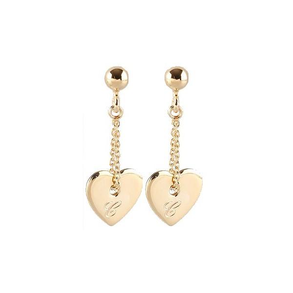 Sterling Silver Engraved Heart Earrings