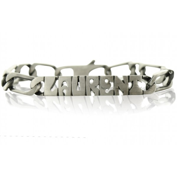 Men's ID Bracelet with nameplate