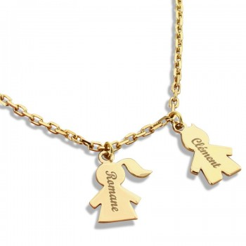 Personalized Mom/Child Necklace