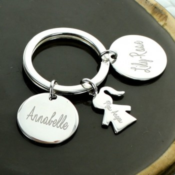 "Personalized ""My Family"" Small Keychain"