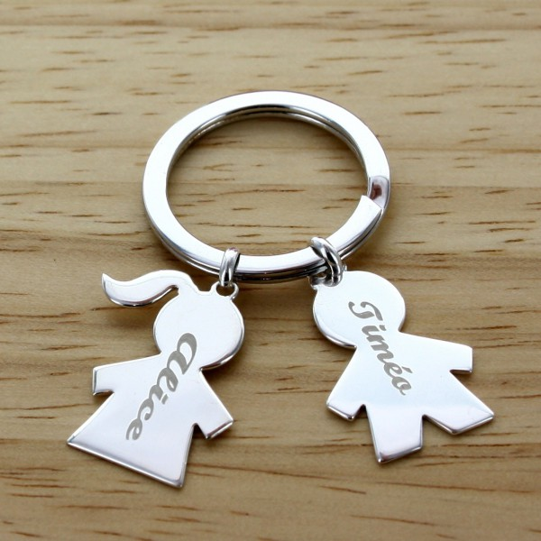 """Personalized """"My Family"""" Large Keychain"""
