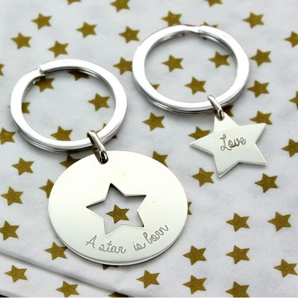 "Duo ""My Stars"" Keychains"