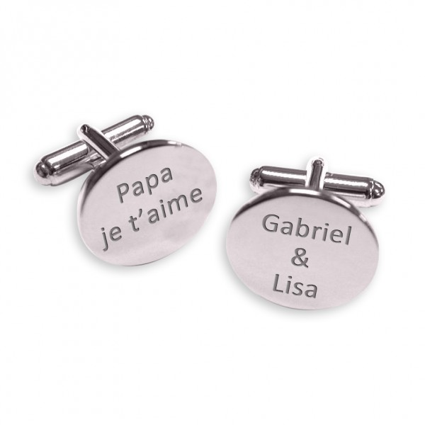 Oval Cufflinks to Personalise
