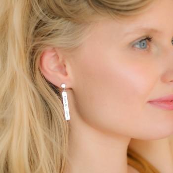Rectangle Earrings Engravable