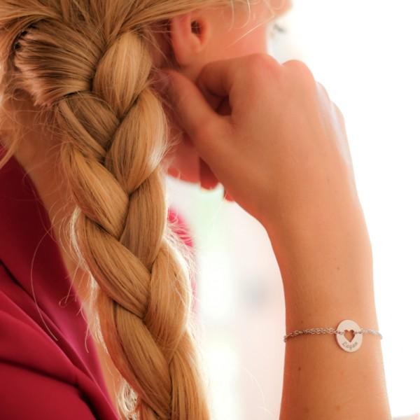 Engraved Heart Bracelet