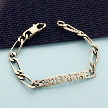 Men's ID Bracelet with nameplate