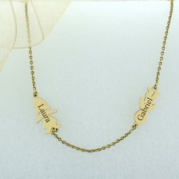 18k Gold Figurine Necklace