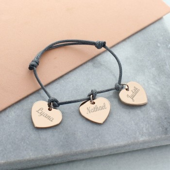 """My Little Hearts"" Bracelet in Rose Silver"
