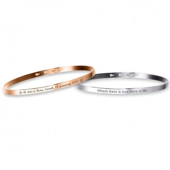 Duo Small Bangle Bracelets to engrave