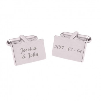 Rectangle Cufflinks to Personalise