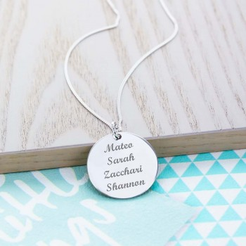 """Personalised Charm 1"""" (2.5cm) Necklace"""