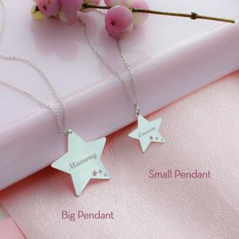 Collier étoiles perforées à personnaliser