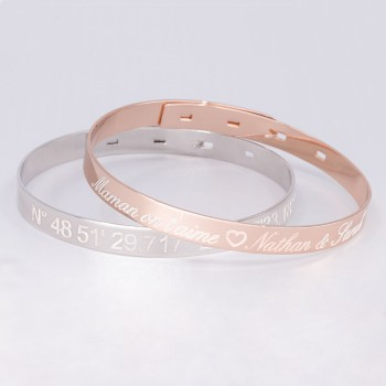 Duo Large Bangle Bracelets to engrave